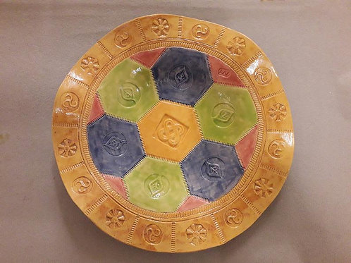Patchwork Ceramic Platter