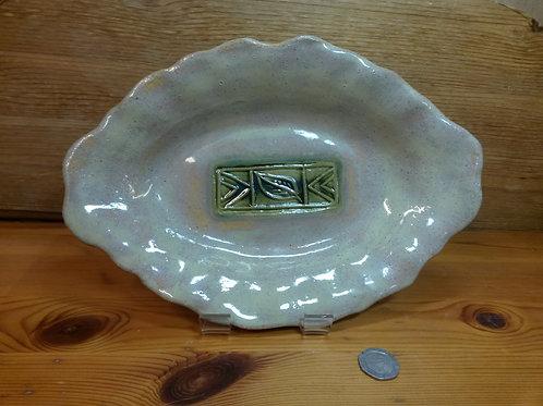 Ripple Edged Opalescent Platter