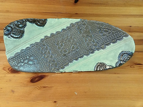 Large Freeform Footed Lace Platter