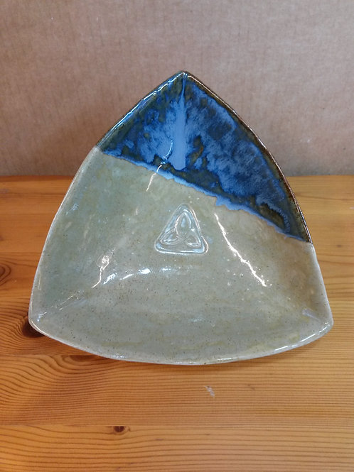 'Sand & Sea', Handbuilt Stoneware Triangular Bowl