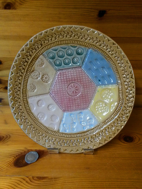 Patchwork Ceramic Plate