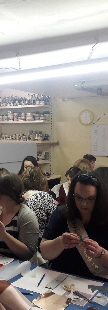 Hen Party at the Pottery