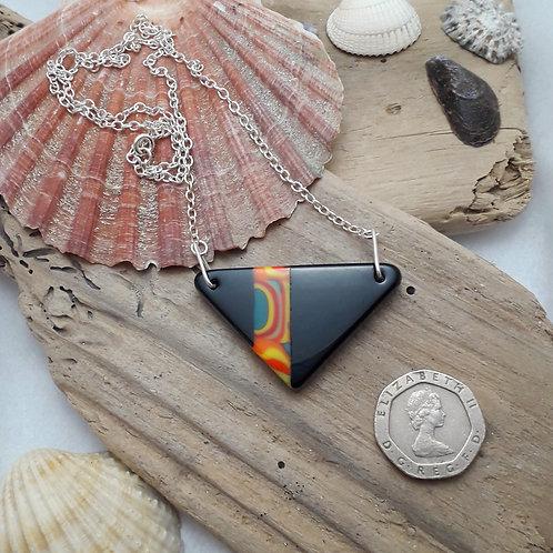 Black Triangular Necklace