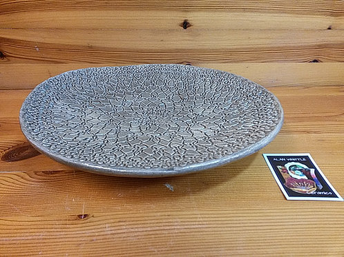 Grey Footed Lace Platter