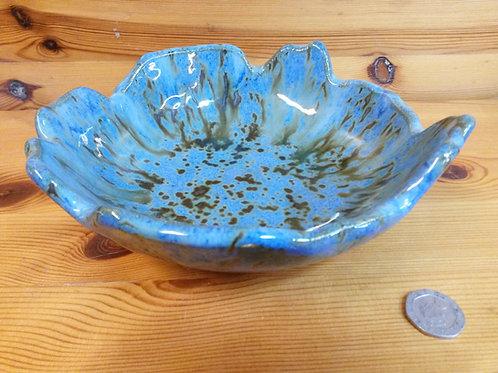 Freeform Blue /Red Bowl