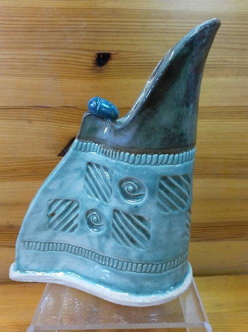 Decorative Stoneware Pitcher