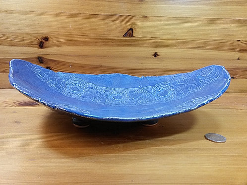 Large Footed Lace Platter