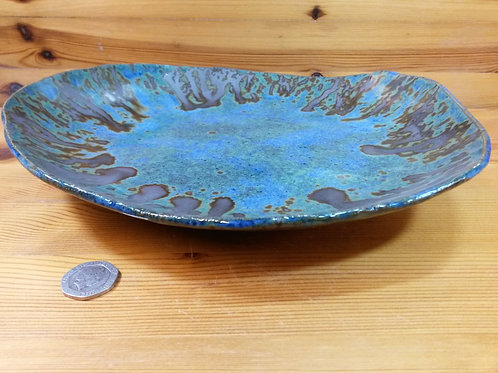Large Blue Footed Platter