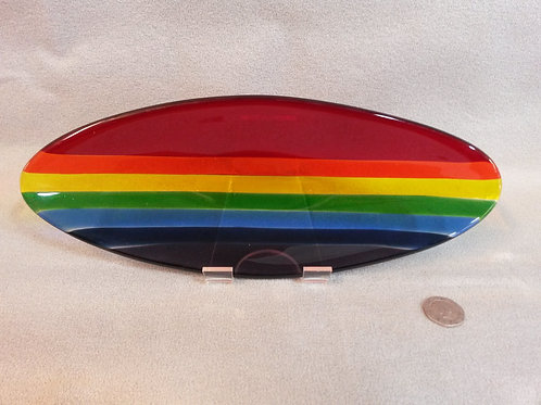 Hebridean Rainbow Oval Glass Bowl