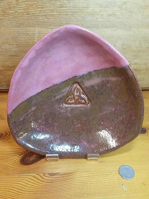 Triangular Footed Stoneware Dish
