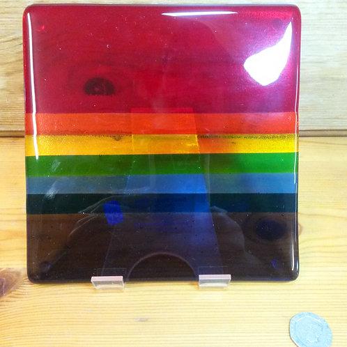 Hebridean Rainbow Glass Pot Stand