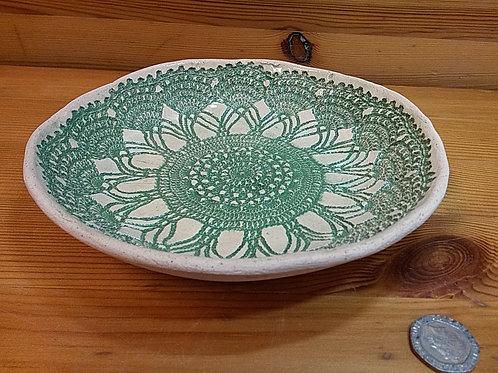Green Lace Dish