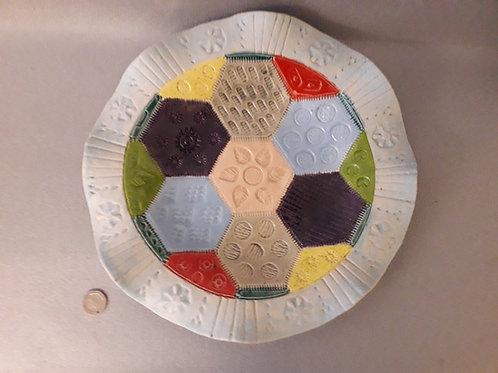 Patchwork Ceramic Platter