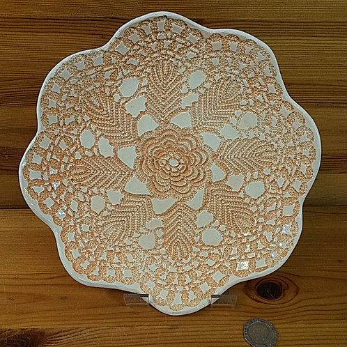 Orange Lace Dish