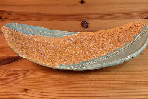 Freeform Footed Lace Platter
