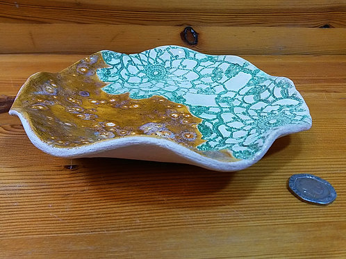 Jade and Caramel Lace Platter