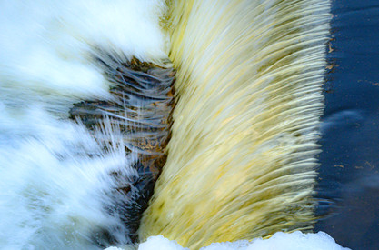 Waterfall at Cordingly Dam