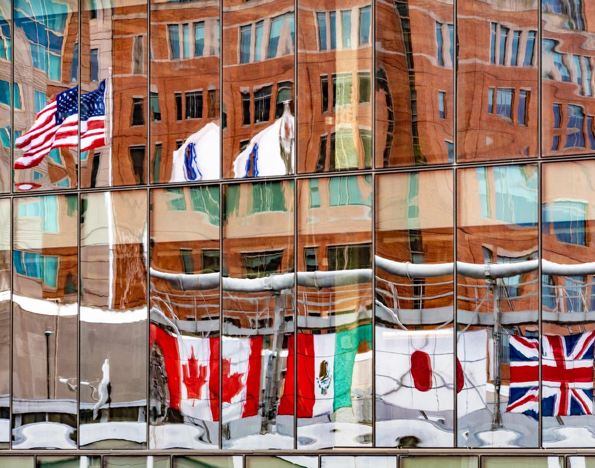 Boston Seaport Flags