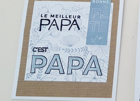 Carte Fête des Pères