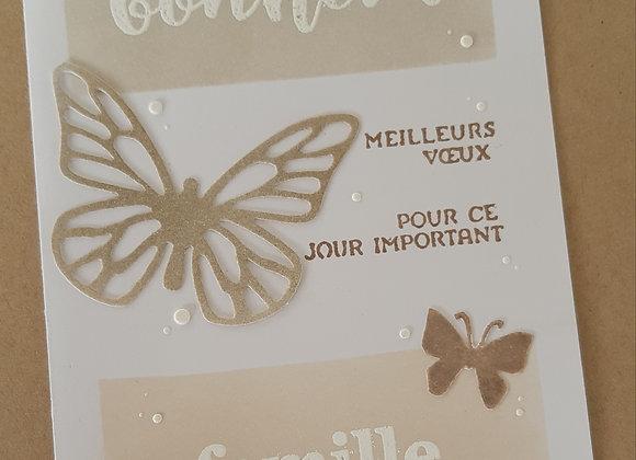 """Carte """" meilleurs voeux de bonheur"""" AO18"""