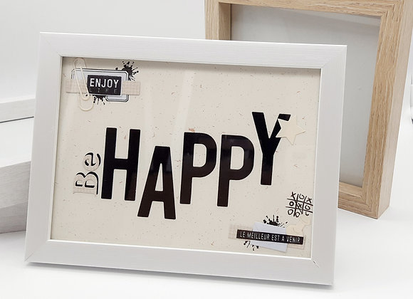 Mini cadre Happy