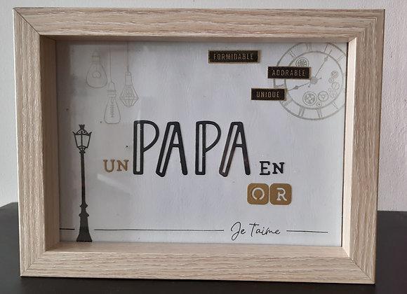 Mini Cadre Papa en Or