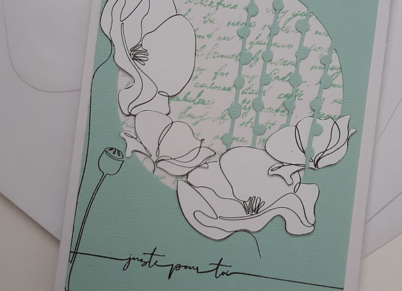 Carte Anniversaire Turquoise