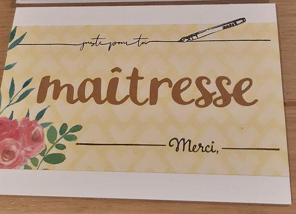 Carte Merci Maitresse