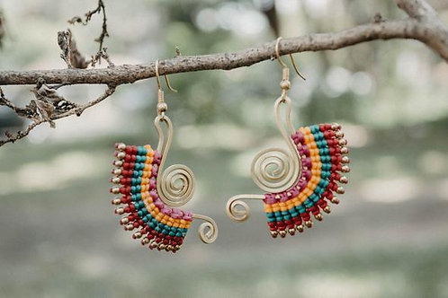 Beautiful Artisan Earrings, Handcrafted in Northern Thailand