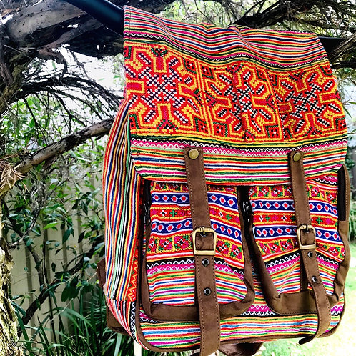 Gorgeous Backpackwith Vintage Hmong Hill Tribe Embroidery