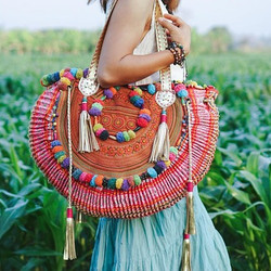 Gorgeous Bag with Vintage Hmong Hill Tribe Embroidery