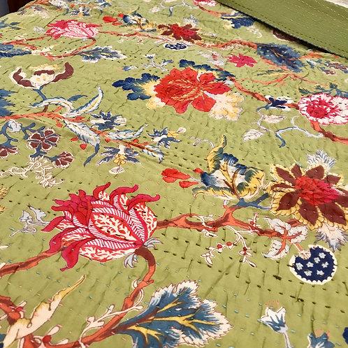 Bengali Tagai Kantha Cotton Beautiful Print Throw 150 X 225cm
