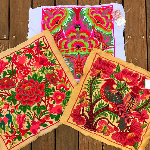 Exotic & Colourful Fair Trade Hmong Embroidered Fabric