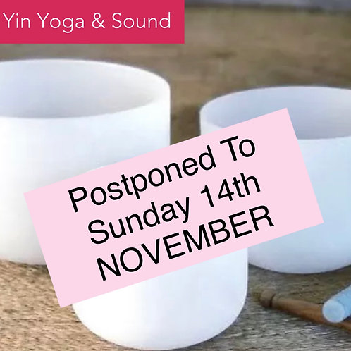 SUNDAY  Yin Yoga & Sound Immersion with 2Shells @ Chelsie & Spice