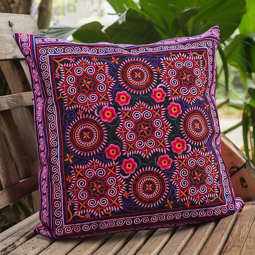 Hill Tribe beautiful Cushion Cover with Hmong Embroidery
