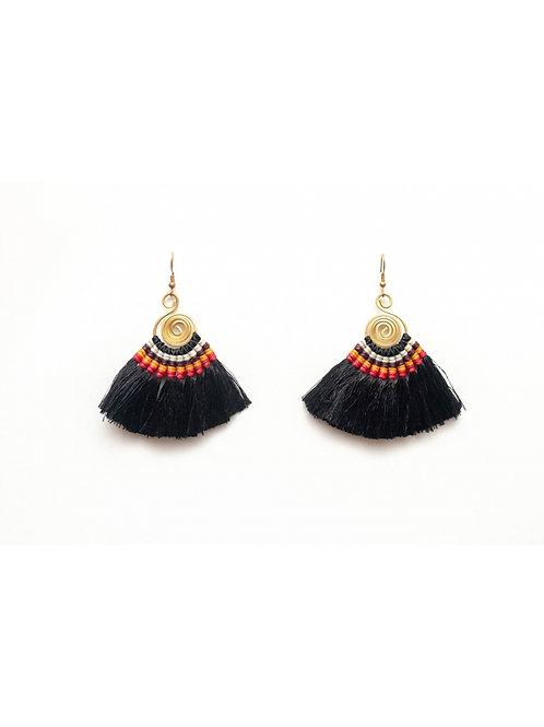 Beautiful Handcrafted Earrings w Tassels, Handmade in Thailand