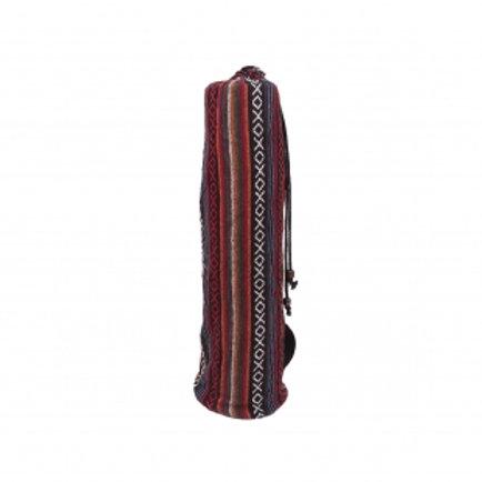 Fair Trade Tribal Yoga Mat Bag w Woven Fabric, Drawstring Closure