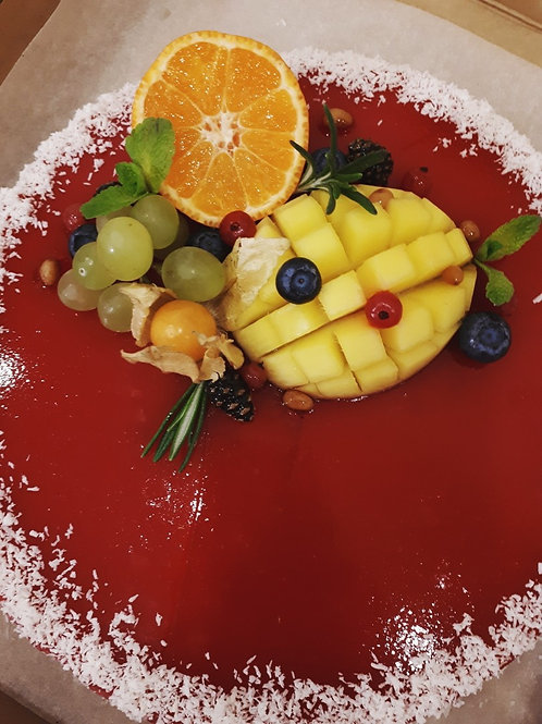 Веганский фруктово-ягодный чизкейк, 1.3 кг