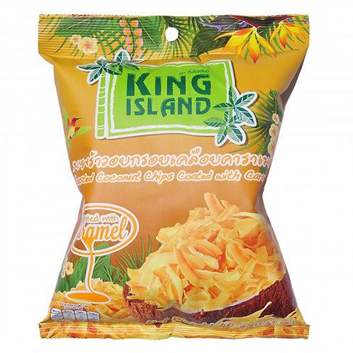 Кокосовые чипсы с карамелью King Island, 40 г