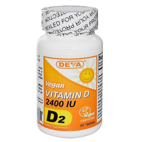 Витамин D2 Deva, 2400 МЕ, 90 шт