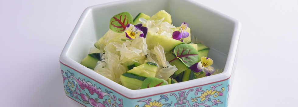 Appetizer_Cucumber and Pomelo with Wasab