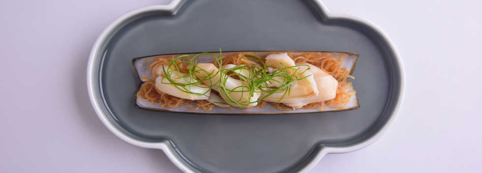 seafood_Steamed Razor Clam with Garlic 蒜