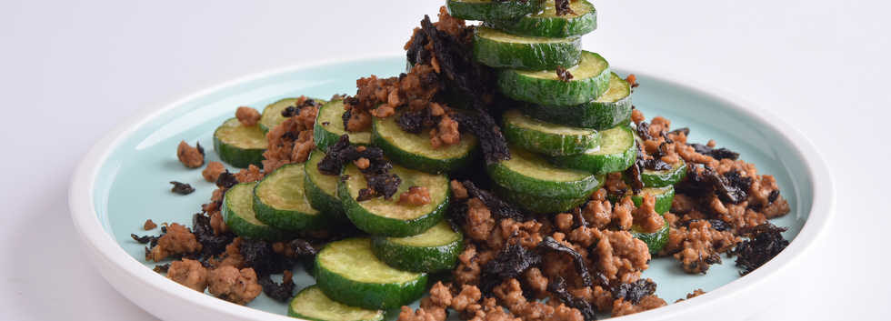 Veg_Stir Fried Cucumber with Fermented O