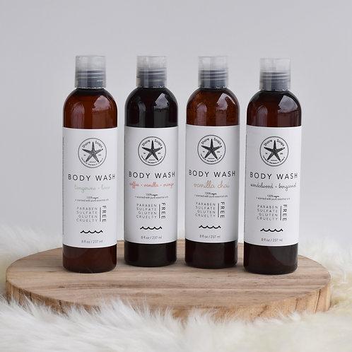 BODY WASH // Gel with Essential Oils // Paraben Free // Sulfate Free // Vegan //