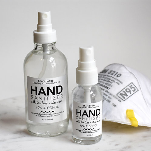 HAND SANITIZER // Liquid Spray // 70% Alcohol // Aloe Vera // Tea Tree // Lavend