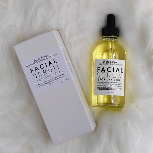 FACIAL SERUM // For Dry Skin // Made with Essential Oils // Avocado Olive Oil //