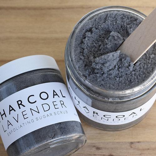 CHARCOAL // Lavender Sugar Scrub // Essential Oils // Exfoliating // Vitamin E /