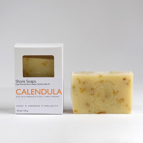 CALENDULA Soap // Made with Essential Oils // Marigold Sweet Orange Vanilla // A
