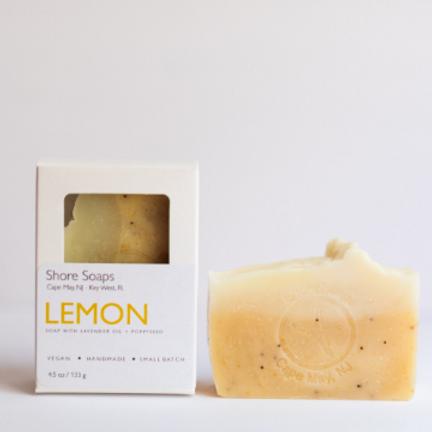 Lemon Lavender Poppyseed Soap // Mood Enhancing // Vegan // Orange Peel Powder /