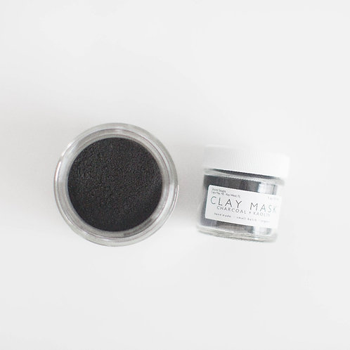CHARCOAL Clay Mask // Activated Charcoal + Kaolin // Blemish Prone Skin // Detox